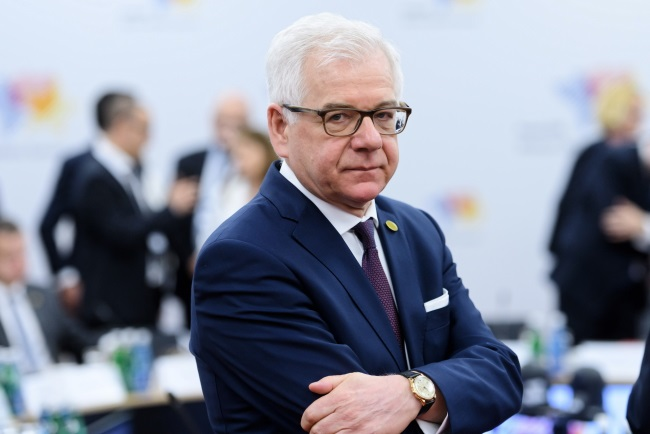 Poland's Foreign Minister Jacek Czaputowicz during the 6th Western Balkans Summit in the western Polish city of Poznań on Thursday.