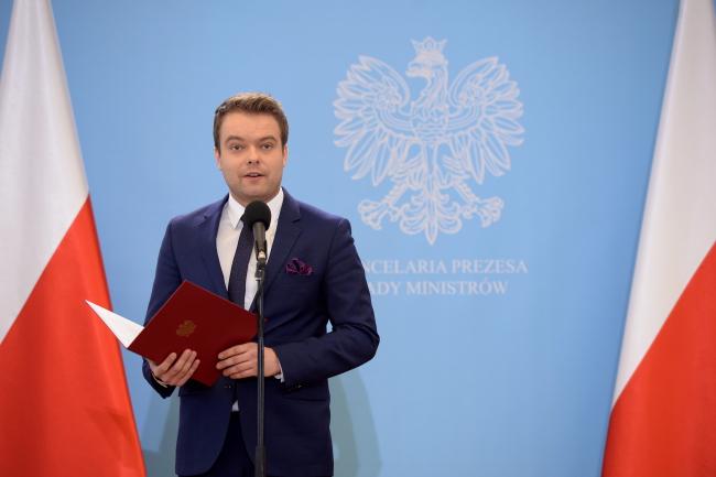 Пресс-секретарь правительства Польши Рафал Бохенек