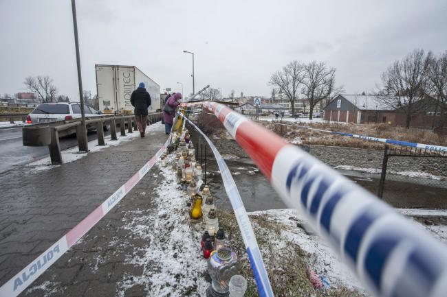 Місце трагедії в місті Єлєня Ґура. 2 січня 2017