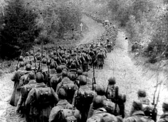 17 сентября 1939-советская пехота во время вторжения в Польшу