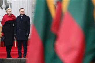 Duda in Vilnius for 100 years of Lithuanian statehood