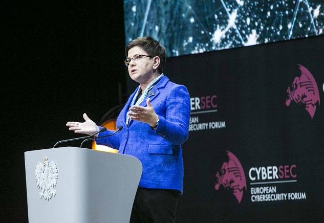 Premier Beata Szydło podczas otwarcia Forum, fot. twitter