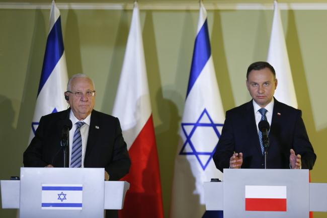 Reuven Rivlin and Andrzej Duda. Photo: PAP/Andrzej Grygiel.