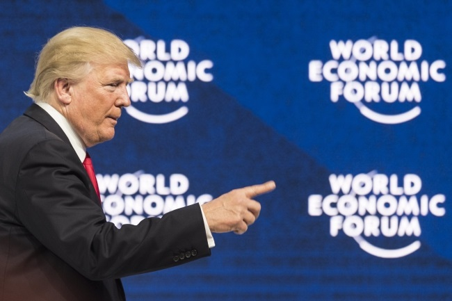 US President Donald Trump at Davos. Photo: EPA/LAURENT GILLIERON