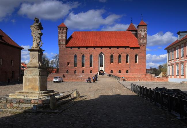 The former castle of the Warmian bishops, Lidzbark Warmiński. Photo: PAP/Tomasz Waszczuk