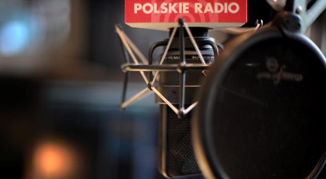 Мікрофон з логотипом Польського радіо