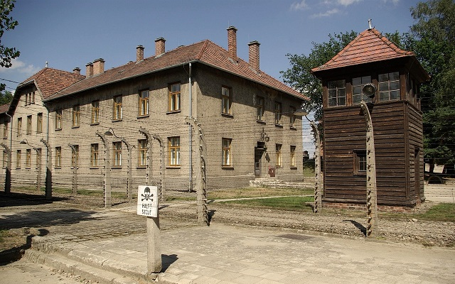 Former Auschwitz Birkenau German Nazi death camp