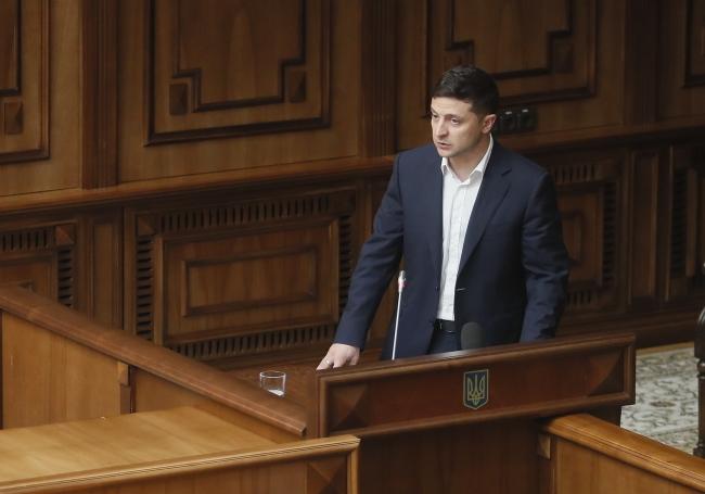 Президент Володимир Зеленський 11 червня 2019 року на засіданні Конституційного Суду в Києві