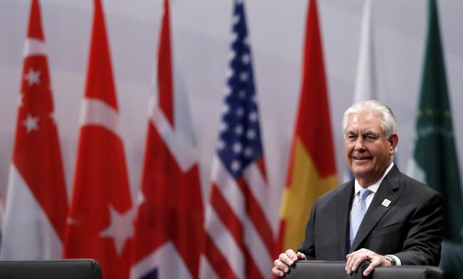 Рекс Тиллерсон на саммите глав дипломатии G20 в Бонне.