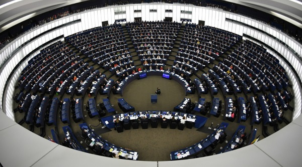 Зал заседаний Европарламента в Страсбурге