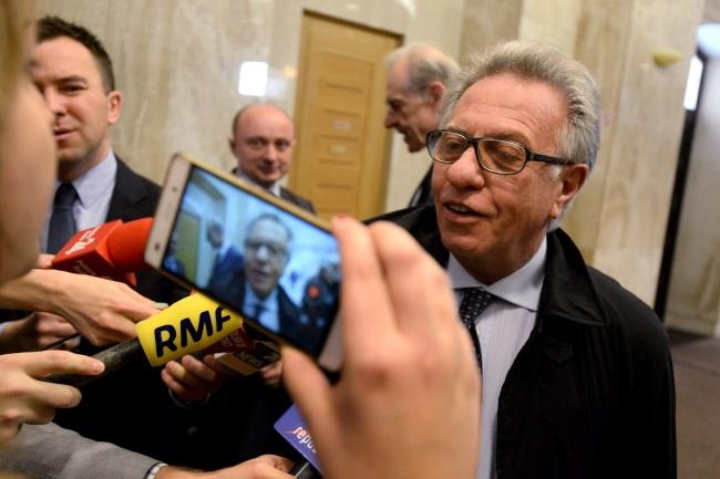 Gianni Buquicchio on Tuesday. Photo: PAP/Bartłomiej Zborowski
