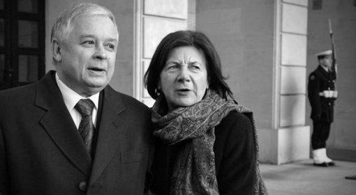 Lech Kaczyński und seine Ehefrau Maria.