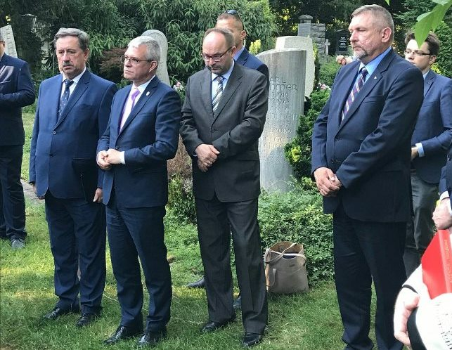 Polska delegacja oddała hołd Polakom pomordowanym w obozie Katzbach