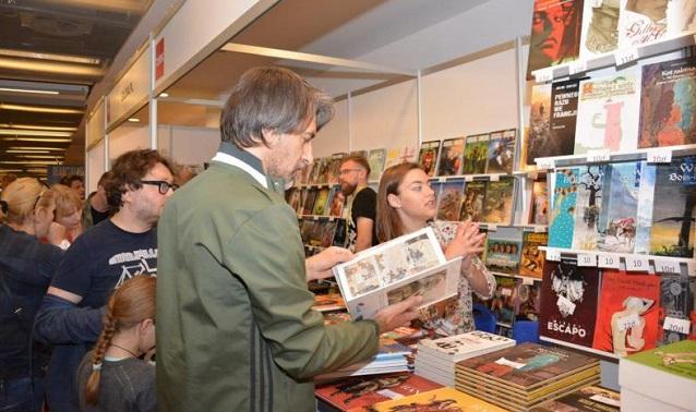 Посетители Варшавской книжной ярмарки