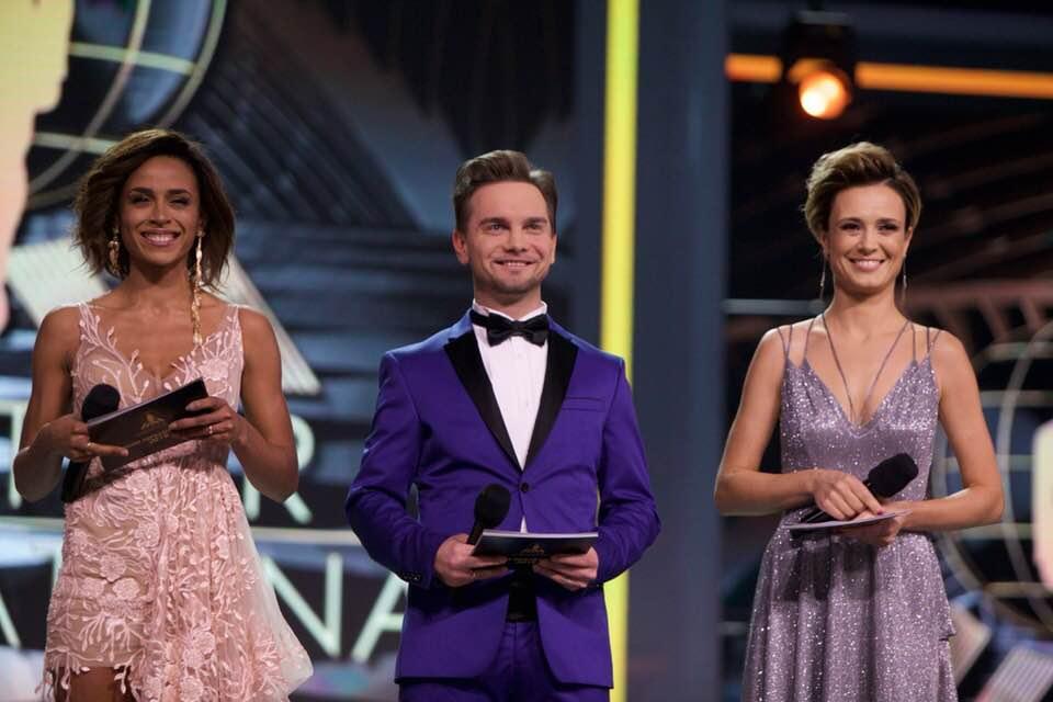 Іван Падрэз (у цэнтры) — вядучы шоў Mister Supranational 2018 на тэлеканале Polsat