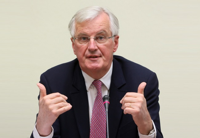 Photo: European Commissioner Michel Barnier. Photo: PAP/Leszek Szymański.