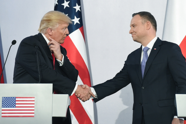 Donald Trump and Andrzej Duda in Warsaw. Photo: PAP/Radek Pietruszka