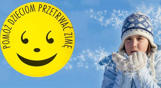 Plakat promujący akcje Pomóż Dzieciom Przetrwać Zimę