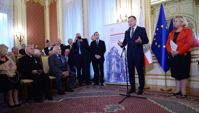 President Andrzej Duda speaks at the Polish Consulate in New York. Photo: PAP/Jacek Turczyk