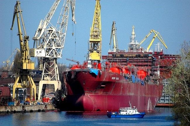 The Szczecin shipyard before it was closed. Photo: Wikimedia Commons