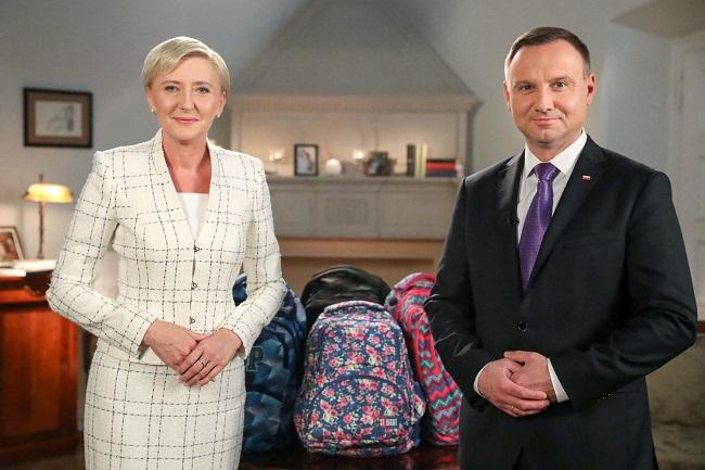 Agata Kornhauser-Duda and Andrzej Duda. Photo: prezydent.pl