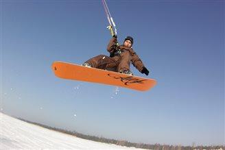 Snow-Kiting heisst die neue Sportart