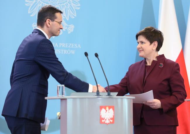 Mateusz Morawiecki and Beata Szydło. Photo: PAP/Leszek Szymański.