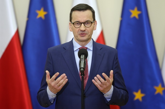 Polish Prime Minister Mateusz Morawiecki. Photo: PAP/Łukasz Gągulski