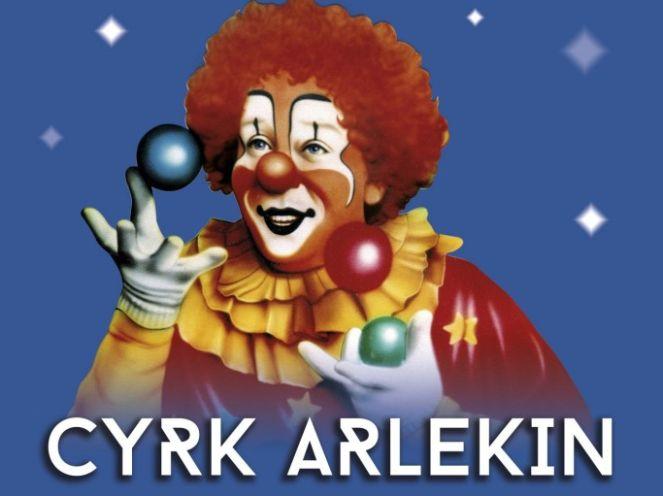 """Фрагмент афиши цирка """"Арлекин"""" - первого польского цирка без животных"""