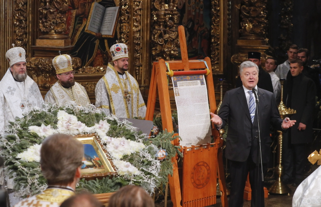 Orthodox Christmas service after Tomos arrived to Ukraine.