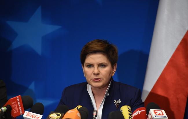 Prime Minister of Poland Beata Szydło in Brussels. Photo: PAP/Radek Pietruszka