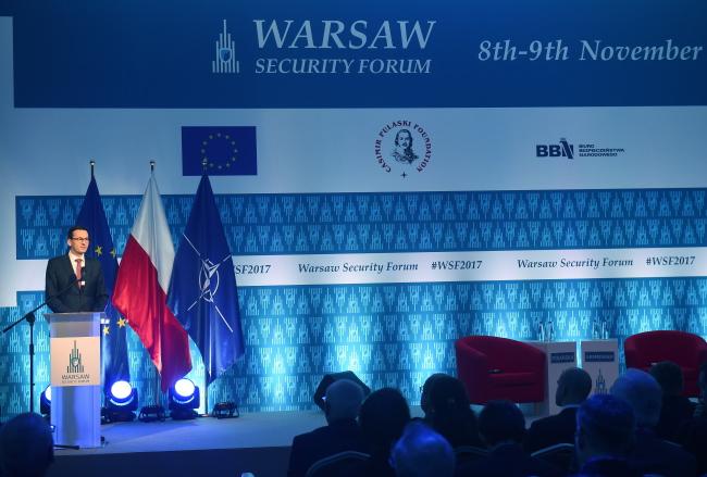Віце-прем'єр Матеуш Моравєцький на Warsaw Security Forum, 8 листопада 2017 року