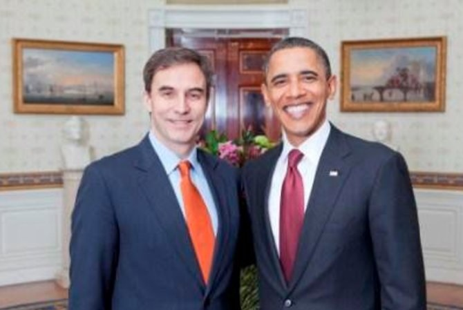 US Ambassador Jones (L) with US president Obama (R). Photo: Facebook.com