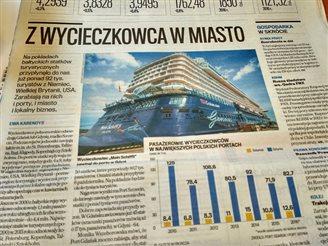 Польшчу наведалі 92 тысячы турыстаў круізных балтыйскіх суднаў